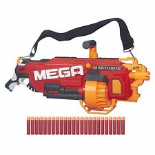 NERF N Strike Mega Blaster Motorised Toy Gun 24 Darts Long Shot Kids Soft Gift