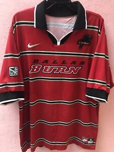 Jersey Dallas Burn XL MLS Vintage 1998 Nike United States very rare