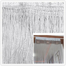 Decor Silver String Curtains Patio Net Fringe Door Fly Screen Windows Divider