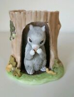 Woodland Surprises Squirrel Figurine Jacqueline Smith Franklin Porcelain 1984
