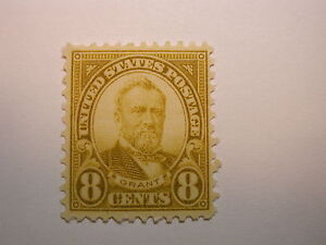 U.S. Scott #560  8 Cent Olive Green Grant 1923 Stamp, Never Hinged Perf 11