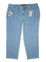 Gloria Vanderbilt Amanda Sparkle Classic Fit Jeans Size 22W S, 24W Short New $50
