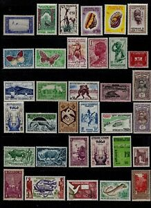 France Colonies Postage Stamps+Post Colonials Mint Selection Clean Selection 34v