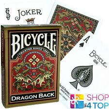 BICYCLE GOLD DRAGON BACK PLAYING CARDS DECK ORIENTAL DESIGN MADE IN USA ORIGINAL