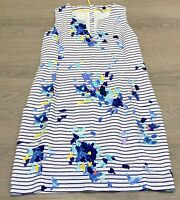 Stunning JOULES 'Elayna' Blue Cotton Linen Shift Dress Pockets UK 12 RRP £70