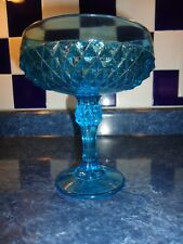 BLUE GLASS CANDY DISH