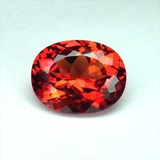 10.10 caratsFIRE RED ORANGE SAPPHIRE OVAL LOOSE GEMSTONE ovale saphire