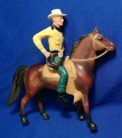 "Vtg HARTLAND PLASTICS CACTUS PETE 6"" HORSE COWBOY WESTERN WRANGLER YELLOW 1960s"