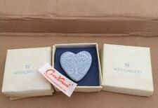 Wedgwood heart pin pastel blue New in original box Great Gifts