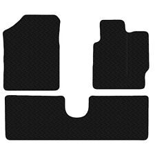 Toyota Yaris 2011 - Onwards Black Floor Rubber Tailored Car Mats 3mm 3pc Set