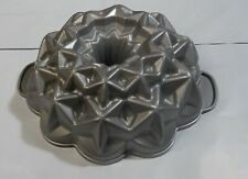 "Nordic Ware Raised STAR  BUNDT CAKE PAN Mold Cast Aluminum 10x4"""