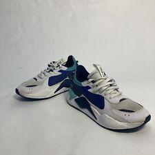PUMA Men's RS-X Hard Drive Sneakers 369818-02 White/Galaxy Blue US 9 / EUR 42