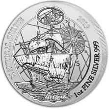 2019 1 oz Rwanda Silver Nautical Ounce Victoria BU