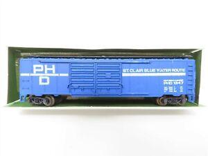 N Aurora Postage Stamp Trains Trix 4868 PHD Port Huron & Detroit Box Car #1347