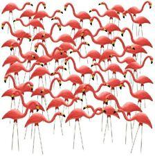 Pink Flamingo Garden Yard Lawn Art Outdoor Ornament Plastic Retro Decor 50 Pack