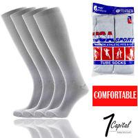 6 12 Pairs Mens Gray Sports Athletic Cotton Comfort Tube Socks Size 9-15 USA