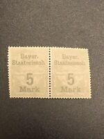 Stamp Germany Reich Bayern Bayer Staatseisenb Revenue Railroad Bavaria Train Tax