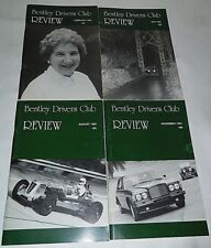 Bentley Drivers Club Review 1992, 4 Issues, 183 Feb, 184 May, 185 Aug, 186 Nov