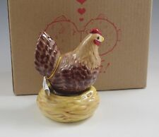 NIB WESTLAND MAGNETIC HEN ON THE NEST  SALT AND PEPPER SHAKERS  MWAH