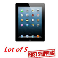"Lot 5 Apple iPad 2nd Gen 16GB Black 9.7"" WiFi Tablet Engraved MC769LL/A See Note"