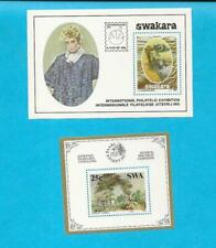 1986 & 1987 Mnh South West Africa Mini Souvenir Sheets Swakara & Painting - E94