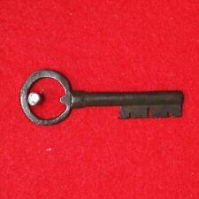 "Antique SKELETON KEY 17th-18th C. English Castle Door Church Jail Lock 3 3/8"" L"