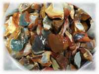 SEE PICTURES - *32 lbs*  Great Banded Colors Desert Polychrome Jasper Rough Lot