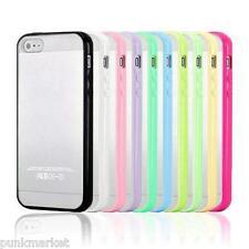 10 x Apple iPhone 5/5s Thin Slim Soft Tpu bumper frame Pc Hard back clear cover