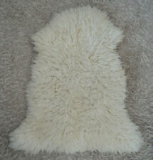 Sheepskin Lamb Sheep Rug Fur Pelt Ivory White Soft Baby Comforter Large Medical