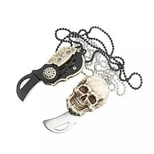 Stainless mini Pocket knives necklace pendant for camping outdoor survival knife