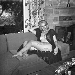 1950s Negative-busty nude blonde pinup girl Billy Jo Collison-cheesecake t286789