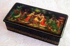 Palekh Lacquer Box New in Original Gift Box Vintage Signed