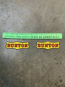 """OEM BUNTON Lawn Mower decal  5"""" 1 Decal Only ✅✅✅ Rare Vintage"""