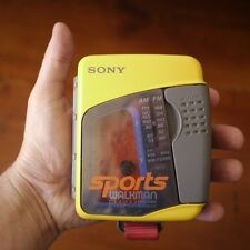 FOR PARTS Vtg Sony Sports Walkman WM-FS399 Yellow AM/FM Radio Cassette Player