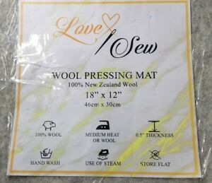 Love Sew™ Wool Pressing Mat Portable Ironing Pad Hand Sewing Tool Quilting NEW
