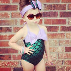 Mermaid Tail Kids Girls Swimwear Swimsuit Beachwear Costume Bathing Suits Cos