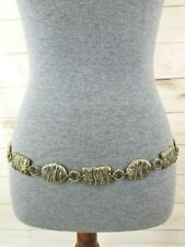 Women's Size M/L Goldtone Medallion Chain Belt