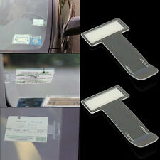 2X Car Vehicle Parking Ticket Permit Holder Clip Sticker Windscreen Window Kit C