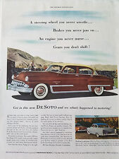 1953 Brown DeSoto Firedome Four Door Car Color Original Ad