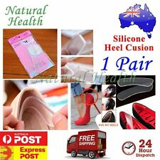 1 Pair Gel Heel Liners Insole Cushion Pads Foot Care Feet Silicone Shields Soft