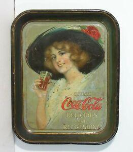 ORIGINAL 1912 COCA-COLA TIN LITHOGRAPH ADVERTISING TRAY - By HAMILTON KING
