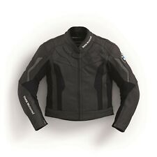BLACK BMW MOTORRAD  MOTORBIKE LEATHER JACKET CE APPROVED FULL PROTECTION.
