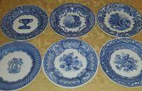 Spode Blue Room Collection Regency Dinner Plates LOT of 6 VICTORIAN SCENES VASE