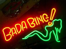 "New Bada Bing Green Girl Live Nudes Neon Sign 17""x14"""