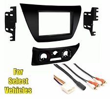 Double Din Car Stereo Radio Dash Kit Combo for 2002-2007 Mitsubishi Lancer w/Amp