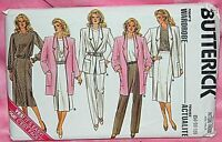 Uncut Butterick Sz 14-18 Easy Jacket Straight Skirt Pants & Top Pattern 3987
