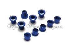 NEW MOWA ALLOY CRANK CHAINRING BOLTS SCREWS SHIMANO 5pairs, BLUE
