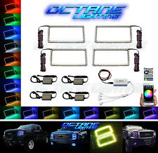 07-13 GMC Sierra Multi-Color Changing LED RGB Headlight Halo Rings BLUETOOTH Set
