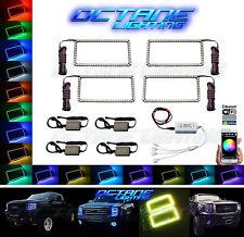 07-13 GMC Sierra Multi-Color Changing LED RGB Headlight Halo Rings BLUETOOTH Set