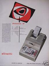 PUBLICITÉ 1952 OLIVETTI DIVISUMMA 14 - ADVERTISING